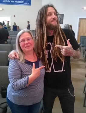 Susan Kerr with Brian Welch